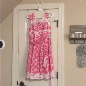 Size 4 pink and white dress